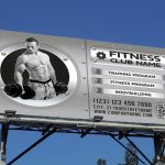 Fitness and Bodybuilding Outdoor Banner