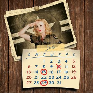 Retro Photos Calendar Template