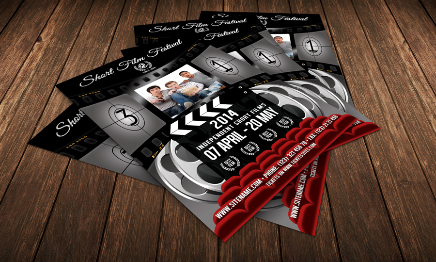 Film Festival Flyer Template for presentation of new film