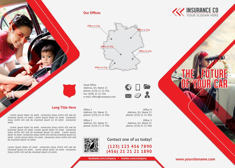 Auto Insurance Trifold Brochure for corporate edition