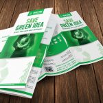 Green Business Multipurpose Trifold Brochure
