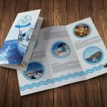 Yacht Club Trifold Brochure Template