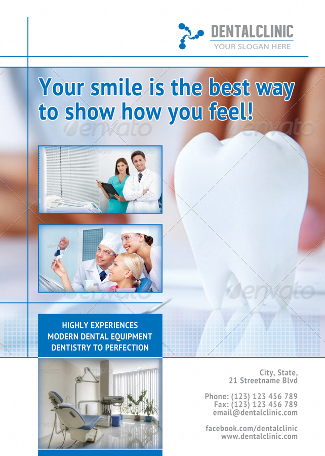 Dental Clinic Flyer Template For Medical Promotions
