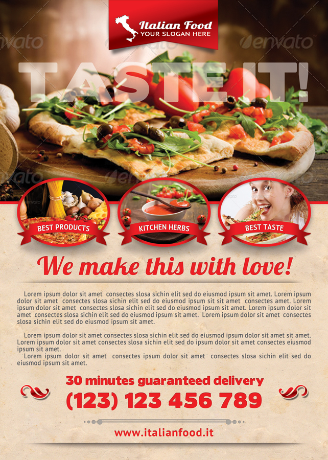 Food Flyer Template – Food Flyer Template