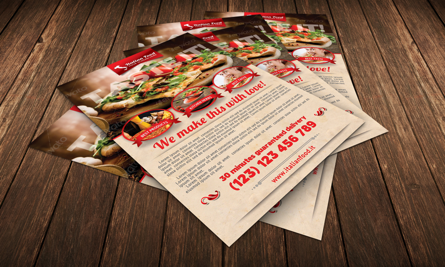 Italian Food Flyer Template – Food Flyer Template