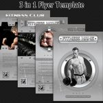 Fitness and Bodybuilding Flyer Bundle