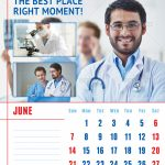 Medical or Dental Clinic Calendar Template