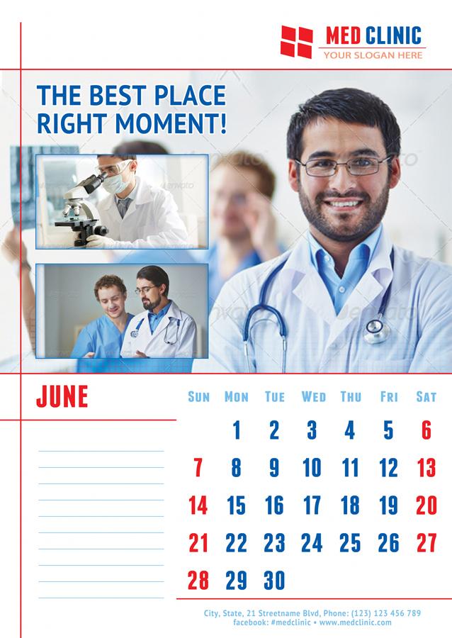 medical or dental clinic 2018 calendar template. Black Bedroom Furniture Sets. Home Design Ideas