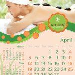Wellness and Spa Calendar Template