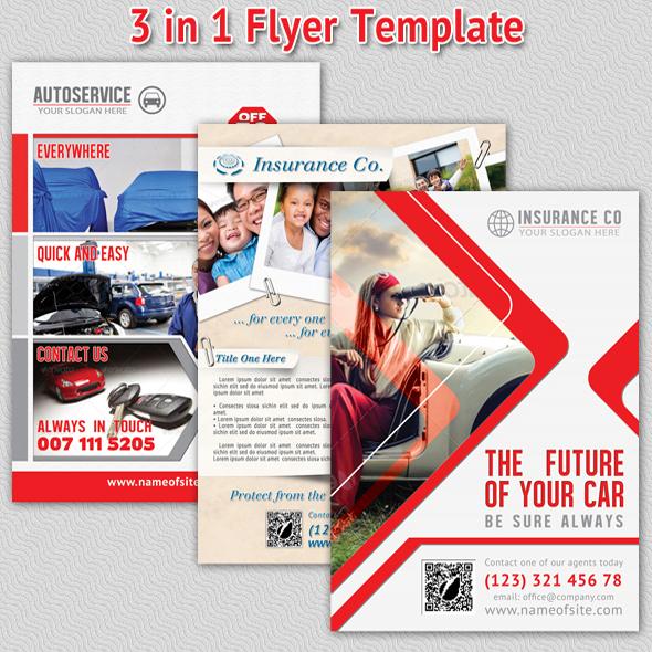 Insurance Bundle Flyer Template