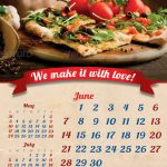 italian food calendar template