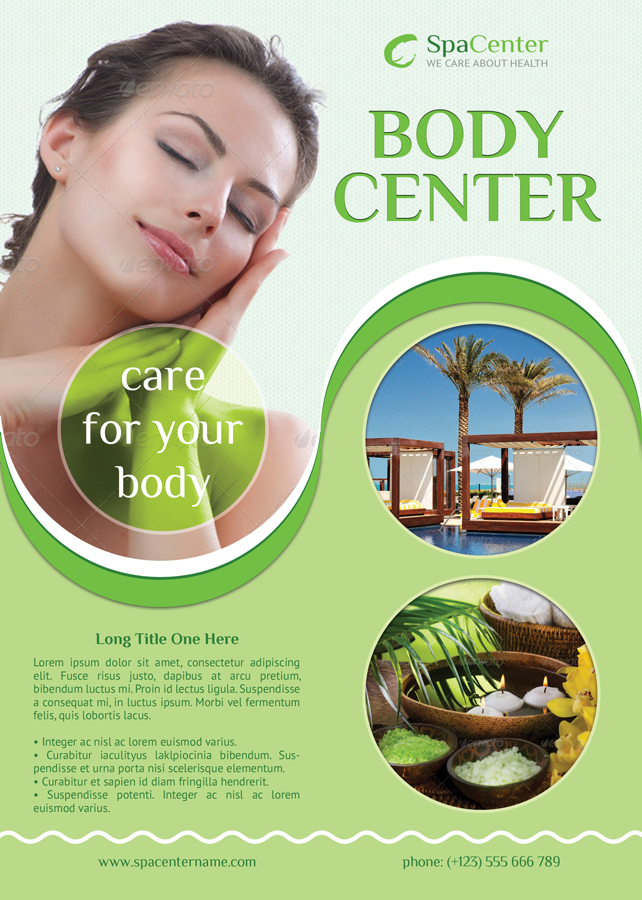 Body Center Flyer Template – Spa Brochure Template