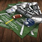 Football game Super Bowl Flyer Template