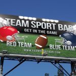 College Football Night Outdoor Banner
