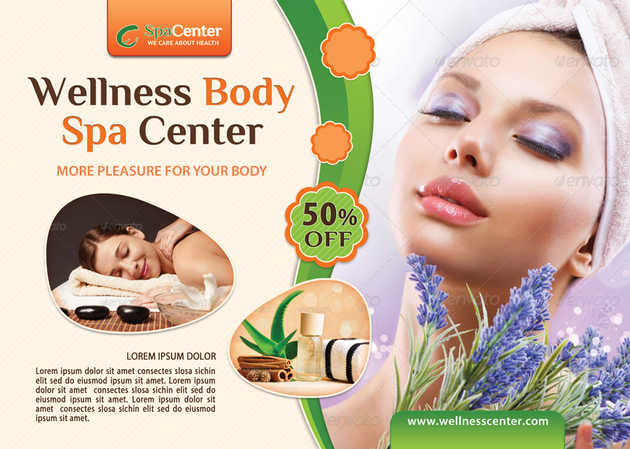 Wellness And Spa Flyer Template
