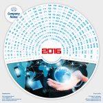 Modern Style Calendar 2016 Template