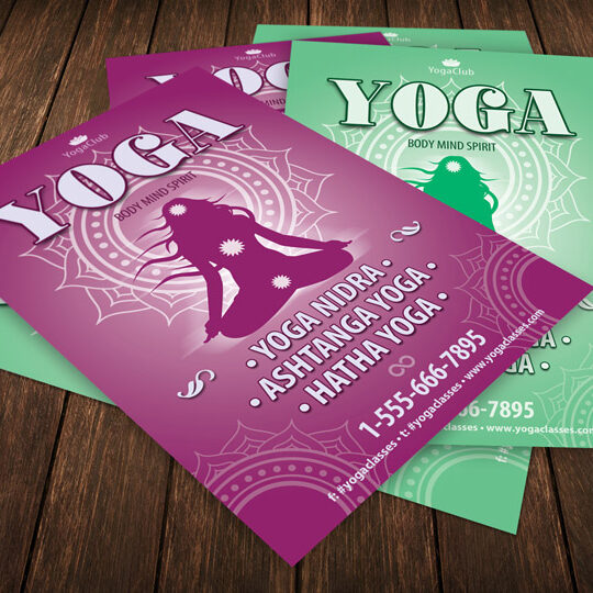 Yoga Club Flyer Template